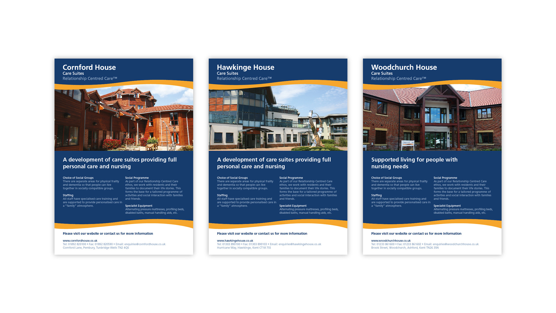 Printed adverts for Graham Care