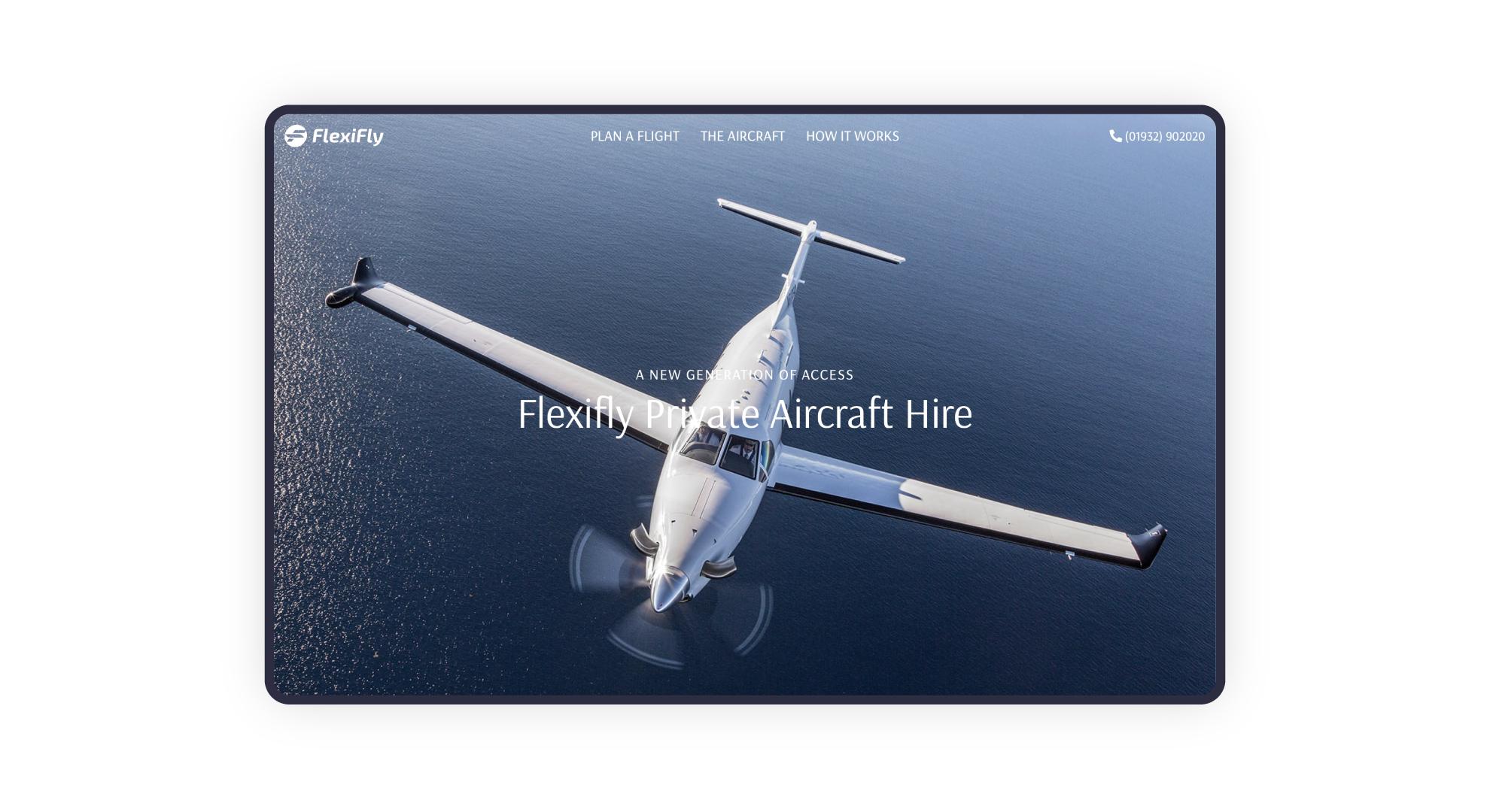 Website design for Flexifly aircraft hire