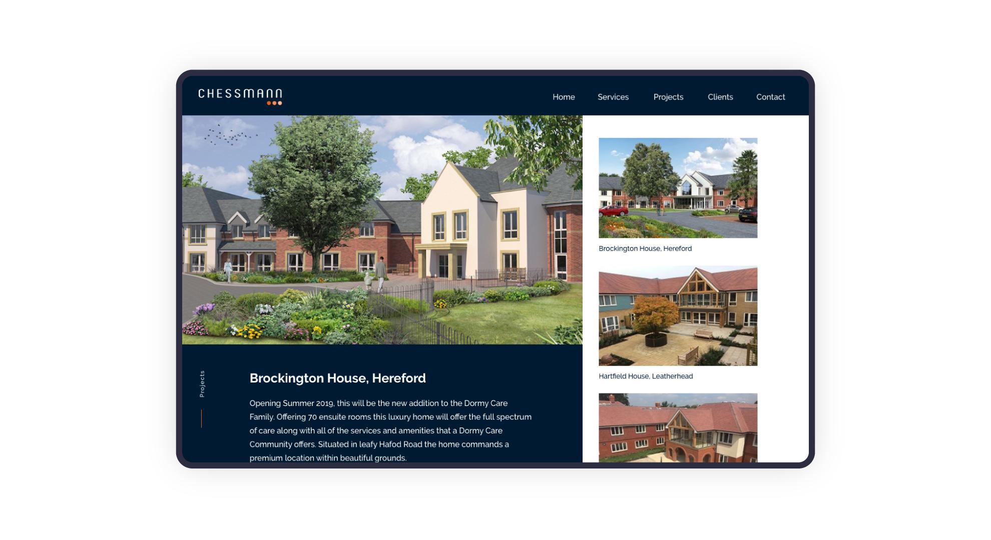 Chessmann website design